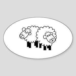 Two Sheep Sticker