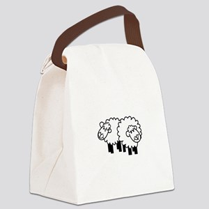 Two Sheep Canvas Lunch Bag