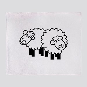 Two Sheep Throw Blanket