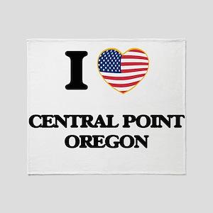 I love Central Point Oregon Throw Blanket