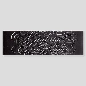 vintage french scripts paris Bumper Sticker