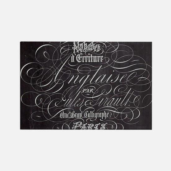 vintage french scripts paris Magnets
