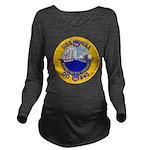 USS HULL Long Sleeve Maternity T-Shirt