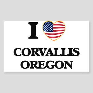 I love Corvallis Oregon Sticker