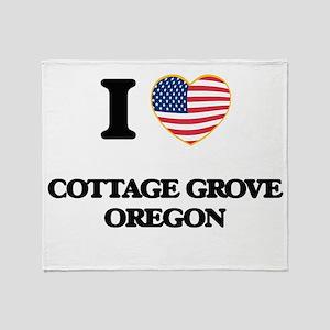 I love Cottage Grove Oregon Throw Blanket