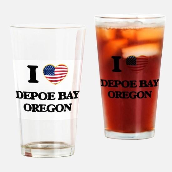 I love Depoe Bay Oregon Drinking Glass