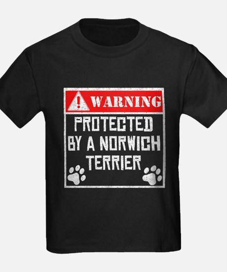 Protected By A Norwich Terrier T-Shirt