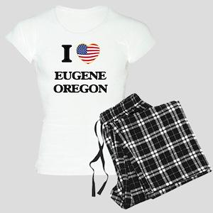 I love Eugene Oregon Women's Light Pajamas