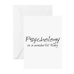 Psychology is a Wonderful Thi Greeting Cards (Pk o