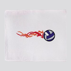 Flaming Volleyball Throw Blanket