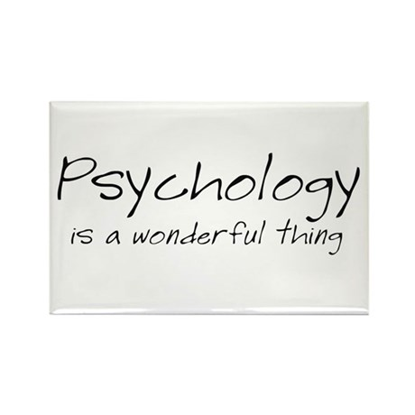 Psychology is a Wonderful Thi Rectangle Magnet (10