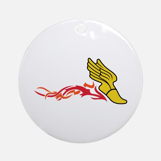 Flaming Track Logo Ornament (Round)