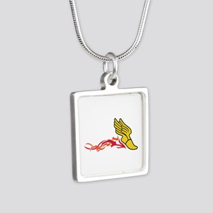 Flaming Track Logo Necklaces