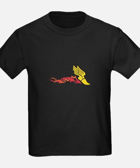 Flaming Track Logo T-Shirt