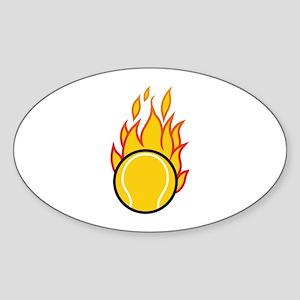 Flaming Tennis Ball Sticker