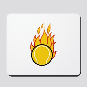 Flaming Tennis Ball Mousepad