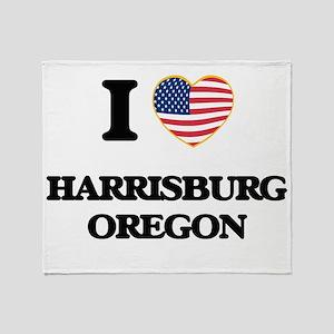 I love Harrisburg Oregon Throw Blanket