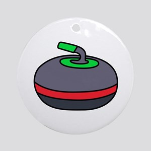 Curling Rock Ornament (Round)