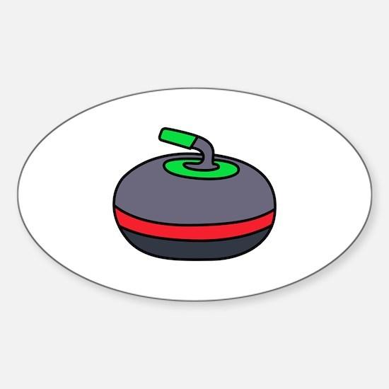 Curling Rock Decal