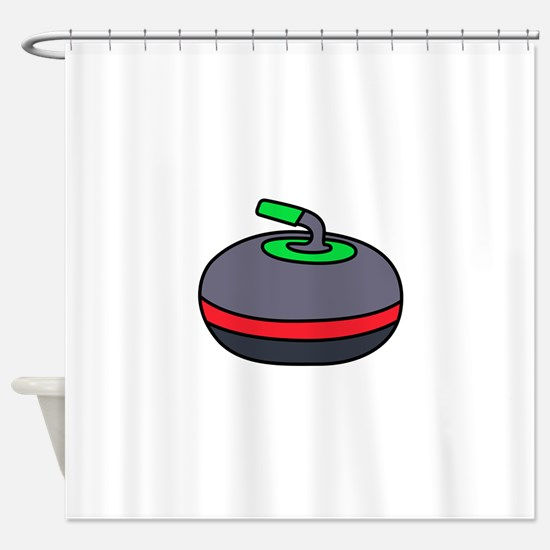 Curling Rock Shower Curtain