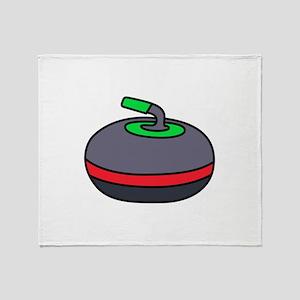 Curling Rock Throw Blanket