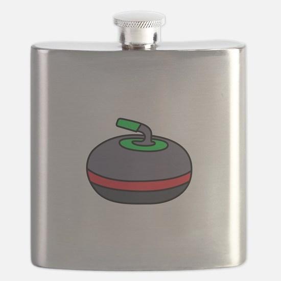 Curling Rock Flask