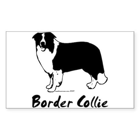 "Border Collie Line Art Standing ""Border Collie"" St"