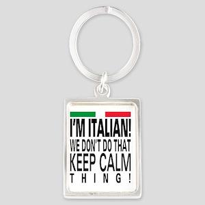 I'm Italian! Portrait Keychain