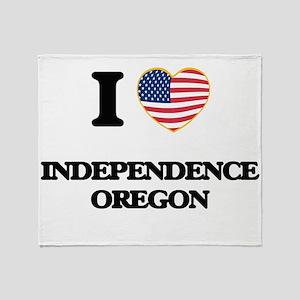 I love Independence Oregon Throw Blanket