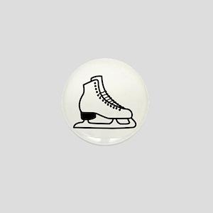 Ice Skate Mini Button