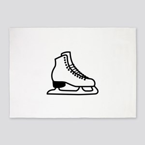 Ice Skate 5'x7'Area Rug
