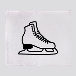 Ice Skate Throw Blanket
