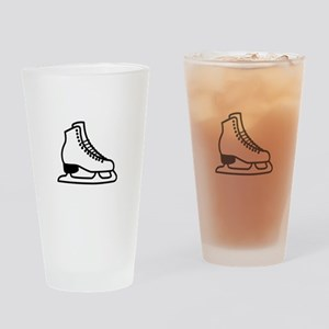 Ice Skate Drinking Glass