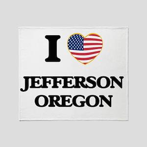 I love Jefferson Oregon Throw Blanket