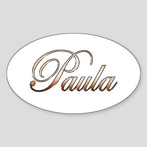 Gold Paula Sticker