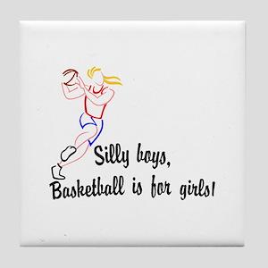 Basketball Girls Tile Coaster