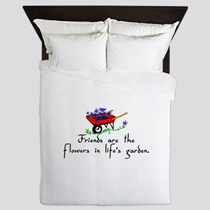 Friends Are Flowers Queen Duvet