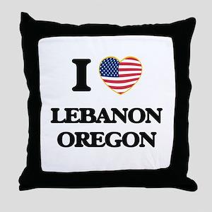 I love Lebanon Oregon Throw Pillow