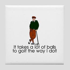 A Lot of Balls Tile Coaster