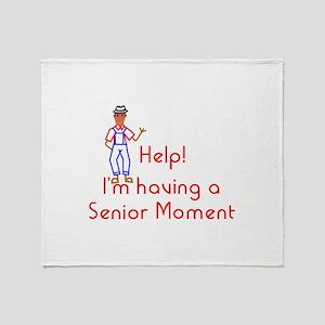 Senior Moment Throw Blanket