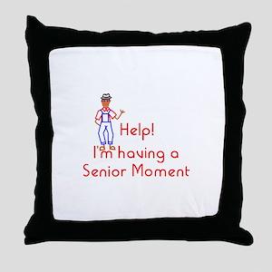 Senior Moment Throw Pillow