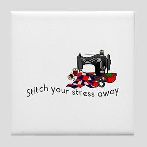 Stress Away Tile Coaster
