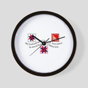 No More Fabric Wall Clock