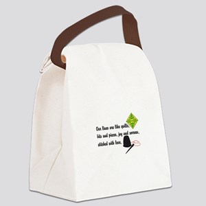Lives Are Quilts Canvas Lunch Bag