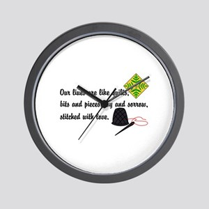 Lives Are Quilts Wall Clock