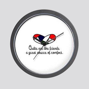 Quilts Are Friends Wall Clock