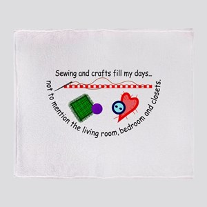 Sewing & Crafts Throw Blanket