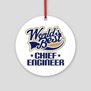 Chief Engineer Ornament (Round)