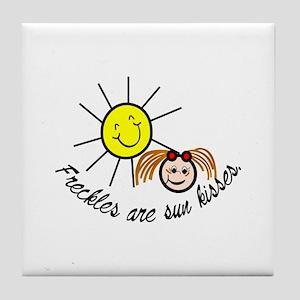 Sun kisses Tile Coaster