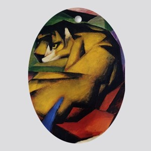 The Tiger by Franz Marc Oval Ornament